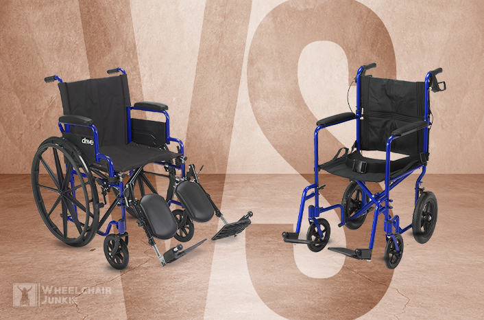 What is the Difference Between a Wheelchair and a Transport Chair?